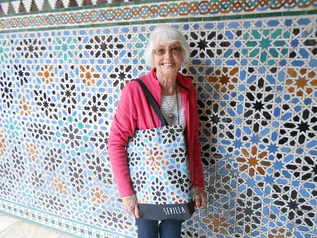 Seville Alcazar Mum and bag