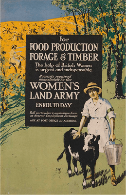 WW1-Womens-Land-Army-Recruitment-Poster-Art.IWM-PST-5489-c.1918