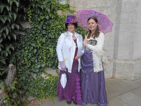 Steampunk event Alison and Ellie 1jpg