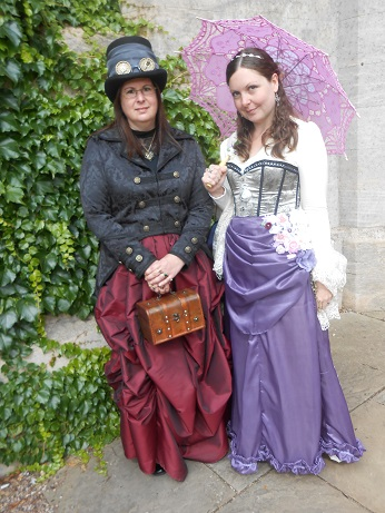 Steampunk event Ellie and Kerrie 1