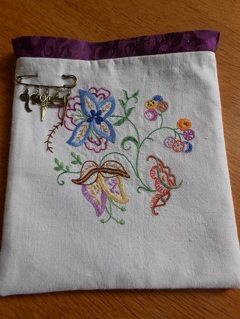 Steampunk linen bag 1