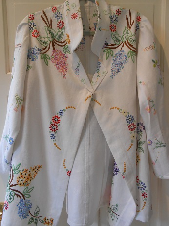 Steampunk linen jacket finished 1
