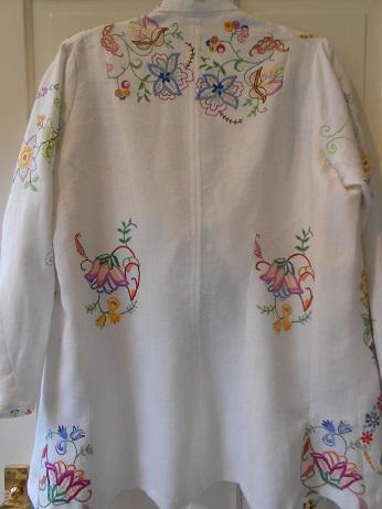 Steampunk linen jacket finished 5