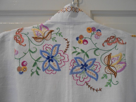 Steampunk linen jacket finished 6