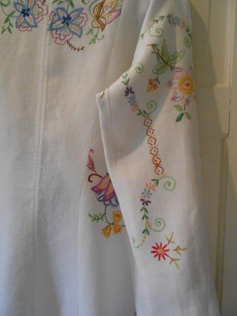 Steampunk linen jacket finished 8