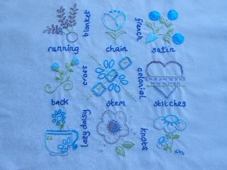 Jenny embroidery stitching 1