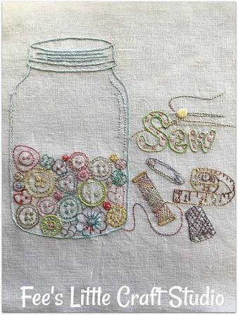 Fee's craft studio button jar