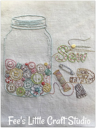 Fee's craft studio button jar