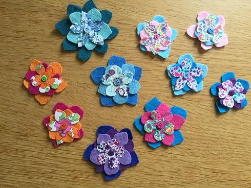 Felt flower collection