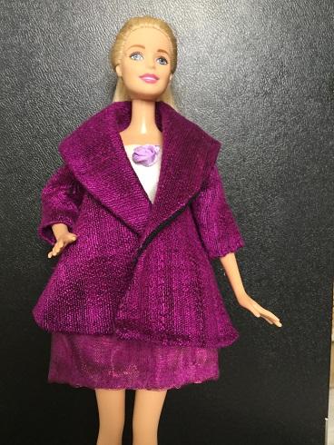 Barbie purple coat 1