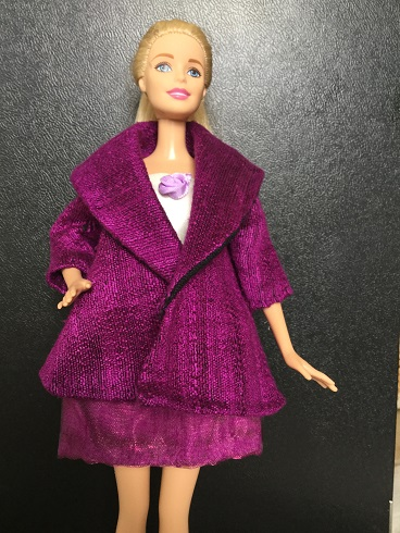 Barbie purple coat 1