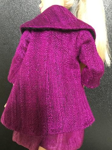 Barbie purple coat 3