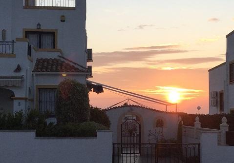 Spain sunrise
