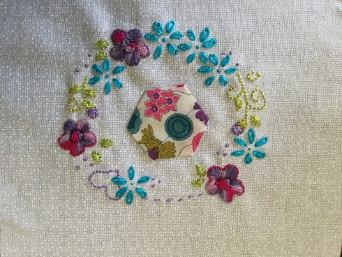 Embroidered pouch March 3