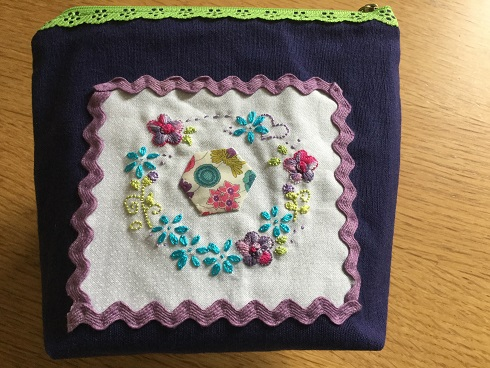 Embroidered pouch March 7