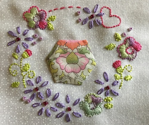 Circle embroidery 1