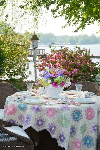 Granny Flowers tablecloth